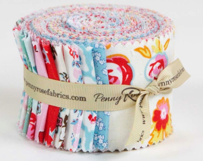 FREE SHIPPING Milk, Sugar & Flower Rollie Pollie/Jelly Roll by Elea Lutz for Penny Rose Riley Blake Fabrics 4340 21