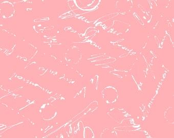 1/2 yd Chloe Script Fabric by Maywood Studio MAS9185-P