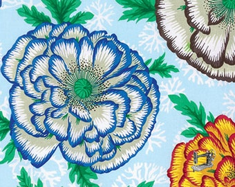 1/2 yd Henley Spring 2016 Cabbage Flower by Philip Jacobs for Free Spirit Fabrics PWPJ078.SKYXX