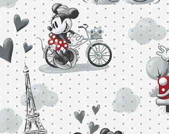 1/2 yd Mickey & Minnie Vintage Scenes of Romance by Springs Creative Fabrics 65215-A620715