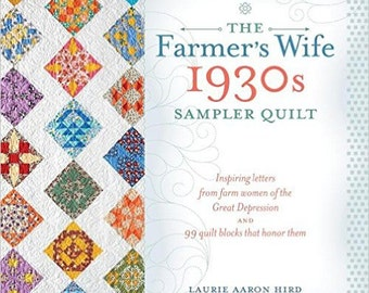 The Farmer's Wife 1930's Sampler Quilt Book & CD by Laurie Aaron Hird