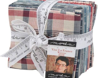 Vive la France Woven Fat Quarter Bundle by French General for Moda Fabrics 12559AB