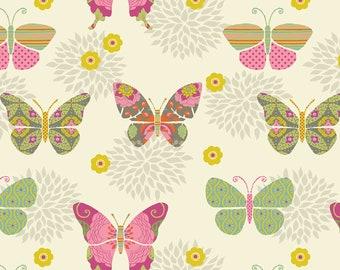 Artist Licensed Bohemian Garden Butterflies Fabric // Springs Creative 53061-389078 by the HALF YARD