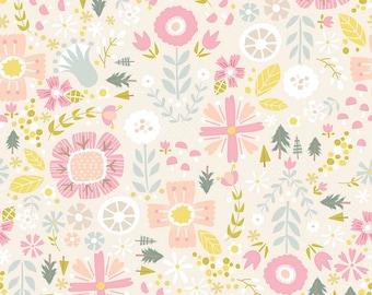 1/2 yd Goldilocks Floral by Jill Howarth for Riley Blake Fabrics C5711