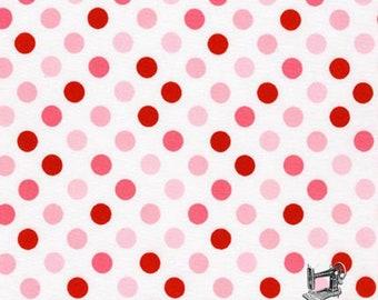 1/2 yd Spot On Dots by Robert Kaufman EZC-12872-262 Bubble Gum