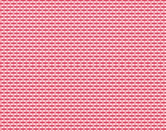 1/2 yd Flora & Fawn Pink Weave Fabric by Amanda Herring for Riley Blake Designs C6736-PINK