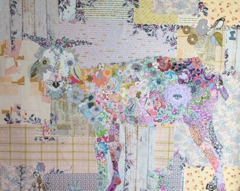 Billie Goat Collage Quilt Pattern by Laura Heine for Fiberworks LHFWBILLIE