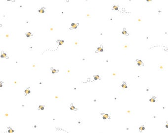 1/2 yd Little Buggers Tiny BEES Fabric by Ink & Arrow for Quilting Treasures  24942 -Z