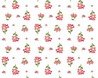 1/2 yd Summer Blush Posie Fabric by Sedef Imer for Riley Blake Designs C7441 White