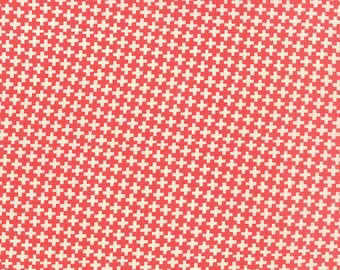 1/2 yd Farmhouse Check Criss Cross Red by Fig Tree & Co for Moda Fabrics 20256 11 Tomato