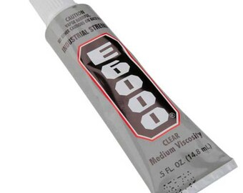 E6000 Adhesive Non-Flame Clear Glue .5 oz