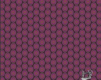 1/2 yd Oval Elements Eggplant Basic by Art Gallery Fabrics OE 905