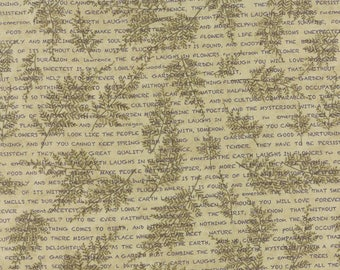 1/2 yd The Potting Shed Poetic Ferns by Holly Taylor for Moda Fabrics 6622 12