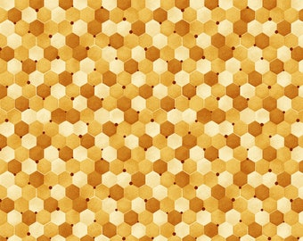 Bee Kind Honeycomb Fabric // Paintbrush Studio by the Half Yard