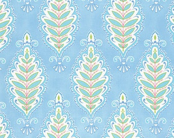 1/2 yd Meadow Willowleaf Fabric by Dena Designs for Free Spirit PWDF240.BLUEX