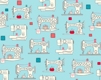 Sew What Sewing Machines Fabric // Ink & Arrow // Quilting Treasures 27237-Q by the Half Yard
