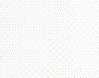 1/2 yd JOL Baand Sno Grar by Wenche Wolff Hatling of Northern Quilts for Moda Fabric 39705 13 White