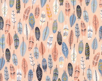 1/2 yd Wild & Free Wild Feathers by Abi Hall for Moda Fabrics 35315 14 Rosie