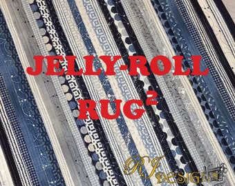 Jelly Roll Rug Squared Pattern by Roma Lambson & R.J. Designs RJD120