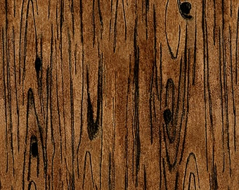 """REMNANT 9"""" Sew American Wood Texture Fabric // Blank Quilting 1200-39"""