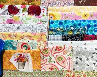 Scrap Bag // Remnants // Grab Bag // BEES, Flowers, Foliage
