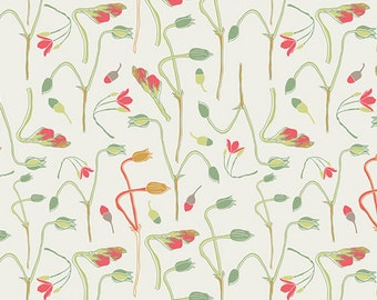 1/2 yd REMINISCE Sprouts of Joy by Bonnie Christine for Art Gallery Fabrics RMS 2503 Ivy