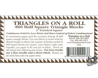 "Triangles On A Roll 2"" Half-Squares TRRH200"