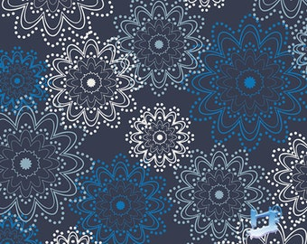 1/2 yd Essentials Indigo Sparkles by Pat Bravo for Art Gallery Fabrics ESS-2400