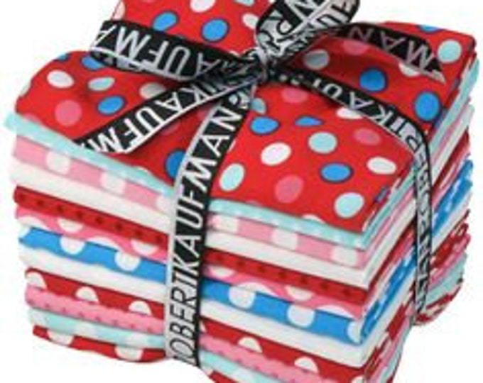 FREE SHIPPING Spot On Atmosphere Fat Quarter Bundle by Robert Kaufman FQ-121-12