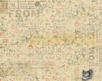 1/2 yd Memoranda From Camden by Tim Holtz for FreeSpirit PWTH092.8MULT