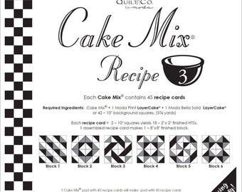 Moda Cake Mix Recipe by Miss Rosie's Quilt Co Design #3