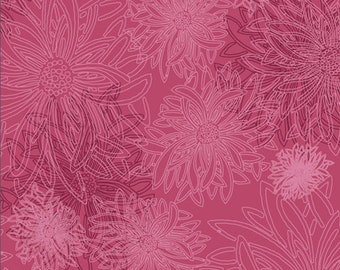 1/2 yd Floral Elements Shocking Pink Basic by Art Gallery Fabrics FE 515