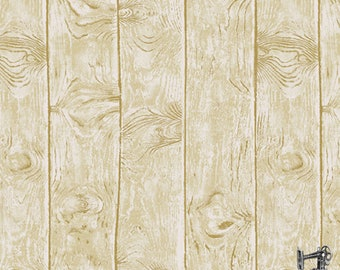 1/2 yd Barnyard Babies Birch Woodgrain Fabric by Two Can Art for Andover A-8587-KL
