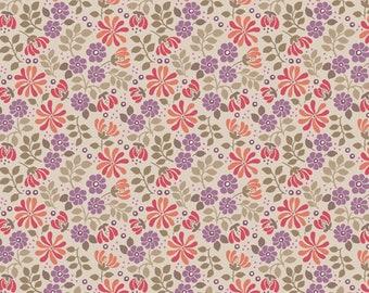 1/2 yd Flo's Little Flowers by Lewis & Irene Fabrics LEIFLO7-4