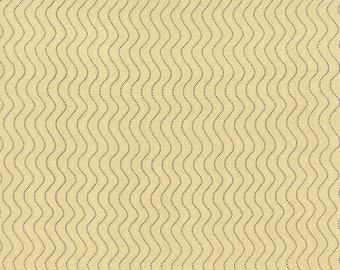 1/2 yd Sturbridge Waves by Kathy Schmitz for Moda Fabrics 6076 15 Cream