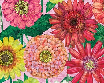 1/2 yd Blossom & Bloom Large Floral Fabric by Tim Coffey for Wilmington Prints 3014 74201 353
