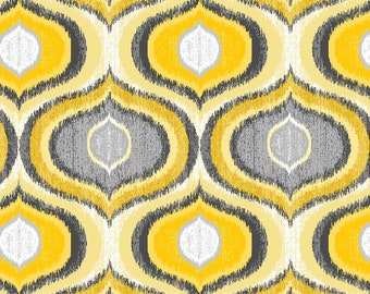 Limoncello Pearl Ogee Fabric by Kanvas Studio for Benartex 7744P-33 by the Half Yard
