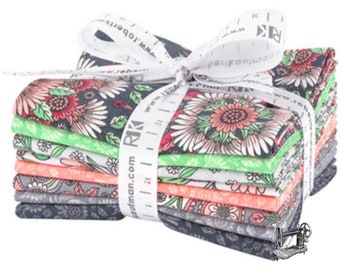 Delphine Blush Fat Quarter Bundle by Andie Hanna for Robert Kaufman Fabrics FQ-1349-8