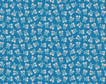 """END OF BOLT 27"""" Strawberry Biscuit Daisy by Elea Lutz for Riley Blake & Penny Rose Fabrics C5106 Blue"""
