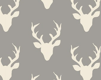 SALE Hello Bear Buck Forest Knit by Bonnie Christine for Art Gallery Fabrics K 4434 Mist PER YARD
