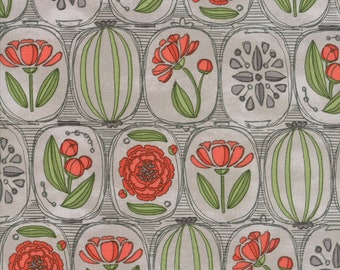 1/2 yd Blushing Peonies Floral Cameos by Robin Pickens for Moda Fabrics 48611 20 Pebble