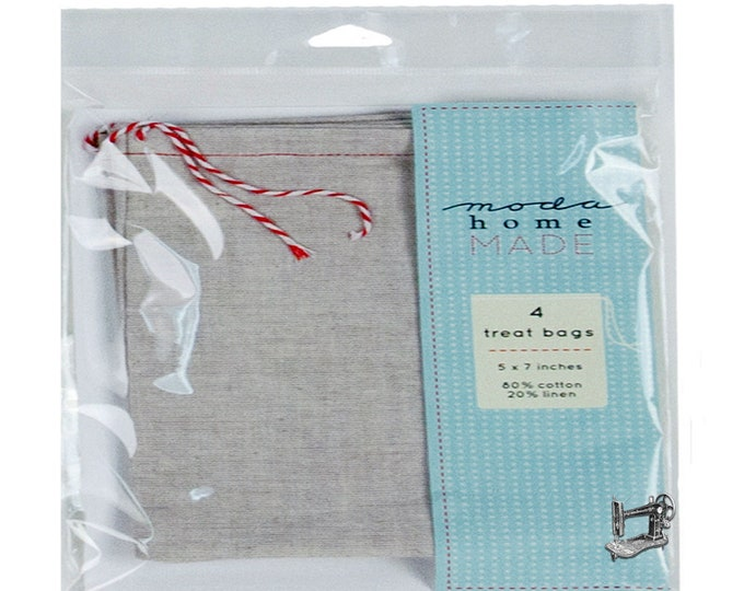 Muslin/Linen Drawstring Favor Bag Set of 3 by Moda Home 999 45 LG