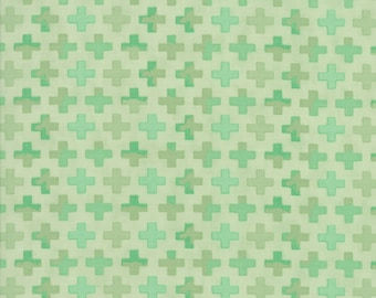 1/2 yd Hazelwood Crosses Yardage by One Canoe Two for Moda Fabrics 36015 13 Mint
