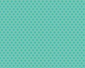 1/2 yd Ardently Austen Floral Fabric by Amanda Herring for Riley Blake C4956 Teal