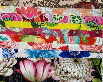 Collage Cuts Floral Pack // Kit // Remnants // Timeless Treasures // Free Spirit // Art Gallery // RJR // Wilmington  A