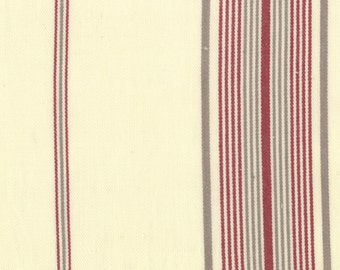 1/2 yd SALE Panier De Fleur Stripes Woven Twill by French General for Moda Fabrics 12556 14 Flax