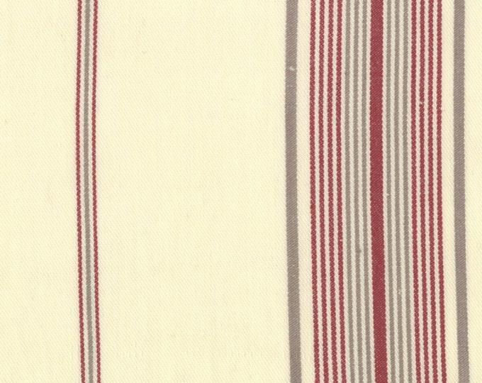 1/2 yd SALE Panier De Fleur Stripes Woven Twill by French General for Moda Fabrics 12556 14 Flax