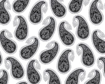 1/2 yd Paisley Sorbet Sweet Paisley by David Textiles DATDT-4471-5C-1