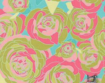 1/2 yd Moda Acreage Rose Spray Garden Grass Floral Fabric by Shannon Gillman Orr 45501 15