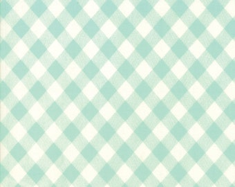 1/2 yd Basic Gingham by Bonnie & Camille for Moda Fabric 55124 35 Aqua